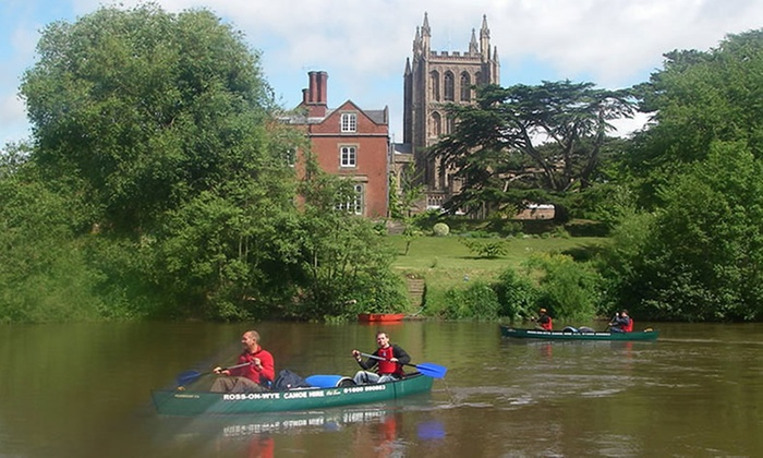 River Wye canoe hire offer