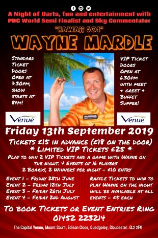 September Darting Event - Wayne Mardle!